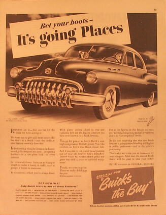 1950 Buick Ad